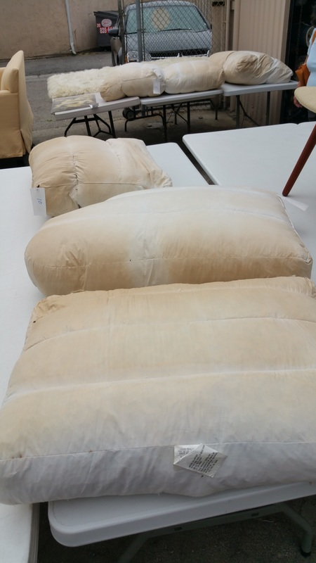 Fire retardant on furniture, discoloration on upholstery