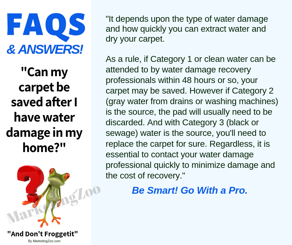 Mansfield OH: Saving Carpets from Water Damage